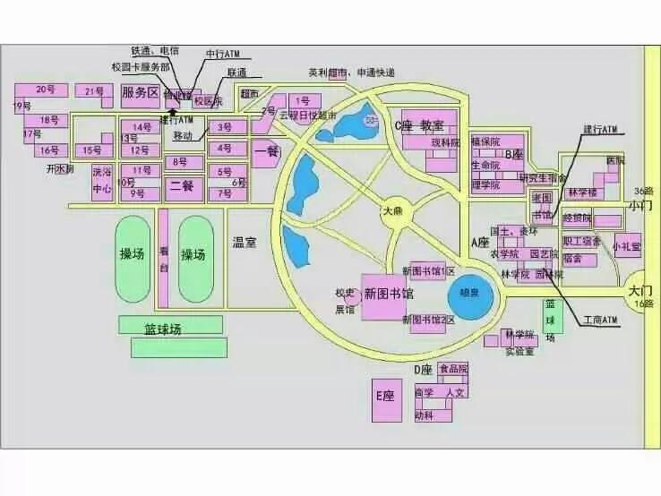 河北农大东校区平面图