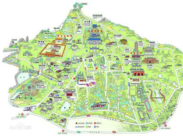 南京著名景点地图