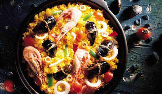 西班牙海鲜饭 接下来介绍的是 二食堂.