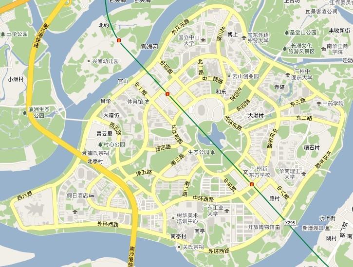 广州大学城地图高清版