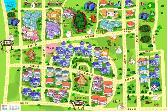 (郑大新区手绘地图,图片来源于网络)